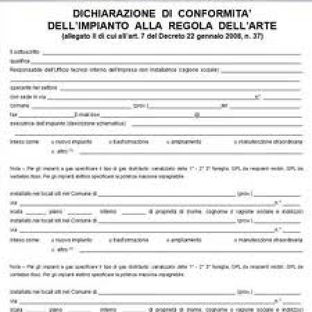 Cila roma comunicazione inizio lavori for Certificazione impianti